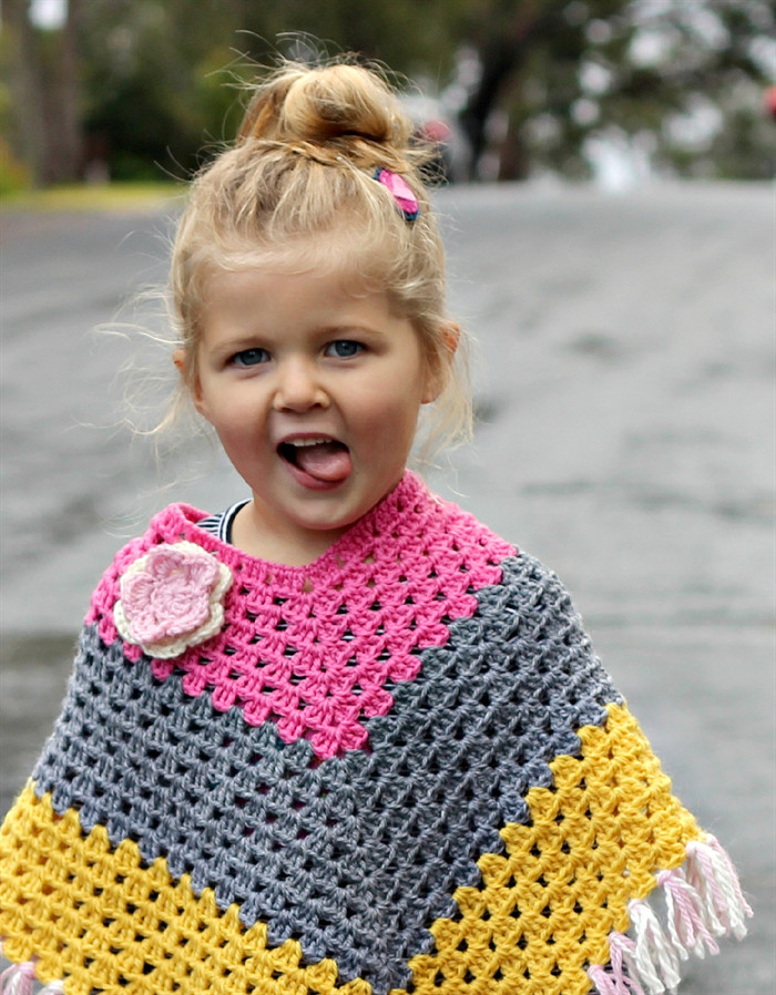 Unique Crochet Wool Poncho toddler Girl Winter toddler Poncho Crochet Pattern Of Great 46 Images toddler Poncho Crochet Pattern