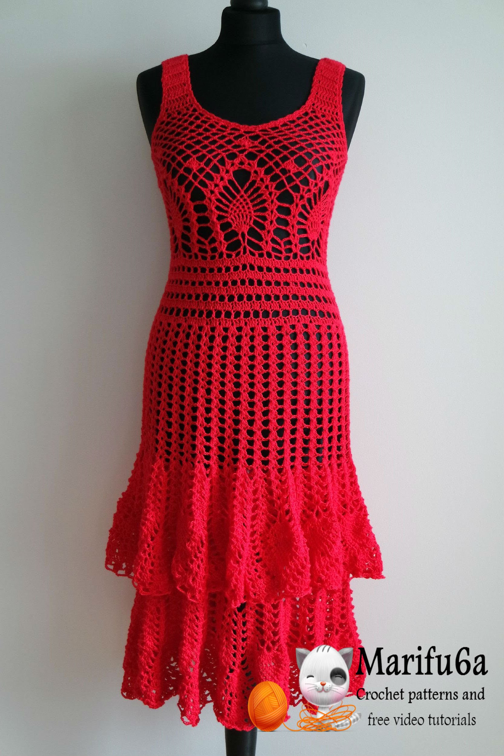 Unique Crocheted Dress Patterns Just In Time for Christmas Crochet Dress Of Awesome 50 Pictures Crochet Dress