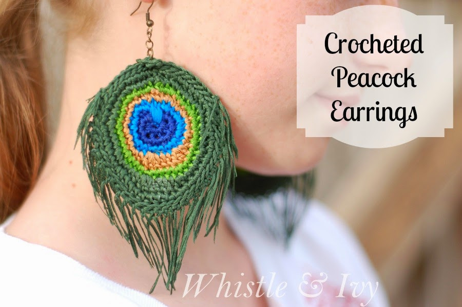 Unique Crocheted Peacock Feather Earrings Whistle and Ivy Crochet Peacock Feather Of Great 44 Models Crochet Peacock Feather