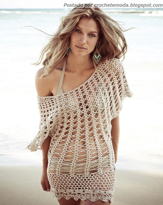 Unique Crochetemoda Blog Sada De Praia De Crochet Crochet Beach Cover Ups Patterns Of Beautiful 40 Models Crochet Beach Cover Ups Patterns