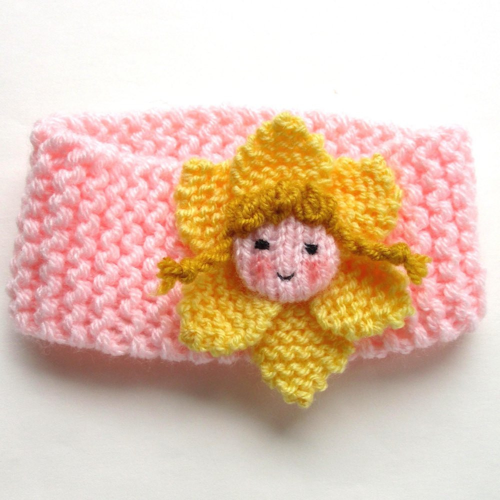 Unique Daffodil Doll Infant Headband Knitting Pattern by Dollytime Baby Headband Knitting Pattern Of New 47 Ideas Baby Headband Knitting Pattern
