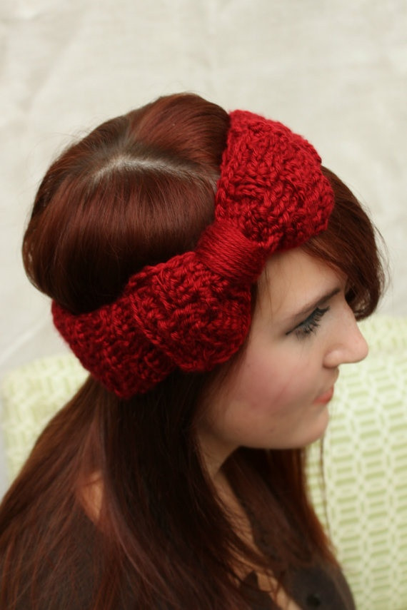 Unique Dark Red Basket Weave Crochet Headband with Bow Crochet Bands Of Adorable 46 Pics Crochet Bands