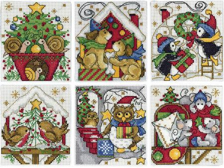 Design Works Home For Christmas Ornaments Cross Stitch