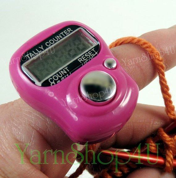 Unique Digital Row Counter orange Digital Finger Tally Counter Crochet Row Counter Of New 44 Pics Crochet Row Counter