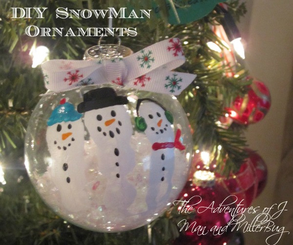 Unique Diy Christmas Craft Adorable Fingerprint Snowman Snowman Christmas ornaments Of Adorable 45 Models Snowman Christmas ornaments