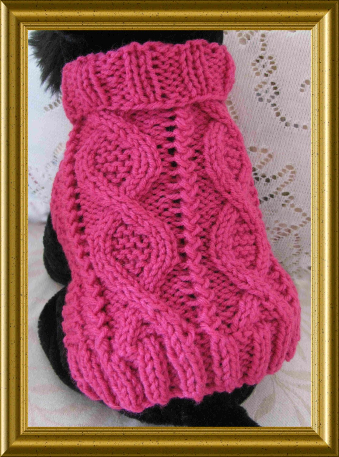 Unique Dog Sweater Knitting Pattern Aran Twists Called Entwined Paths Easy Knit Dog Sweater Of Charming 49 Ideas Easy Knit Dog Sweater