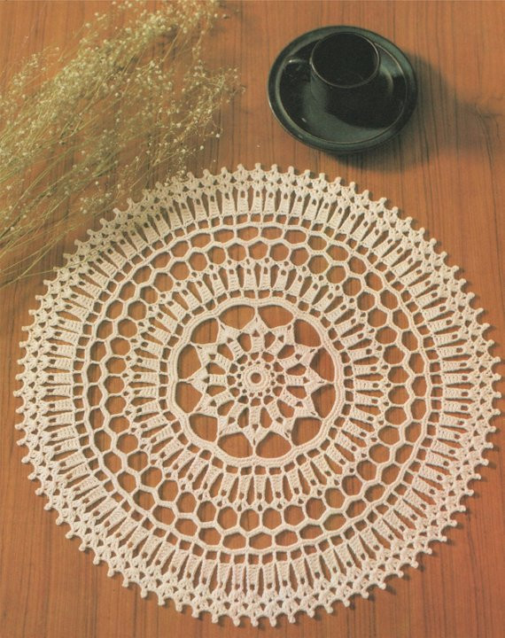 Unique Doily Pdf Crochet Pattern Table Mat Place Mat Table Crochet Table Mat Of Gorgeous 47 Ideas Crochet Table Mat