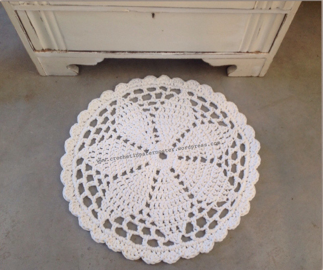 Unique Doily Rugs with T Shirt Yarn – Crochet In Paternoster Crochet Rug Patterns with Yarn Of Great 50 Images Crochet Rug Patterns with Yarn