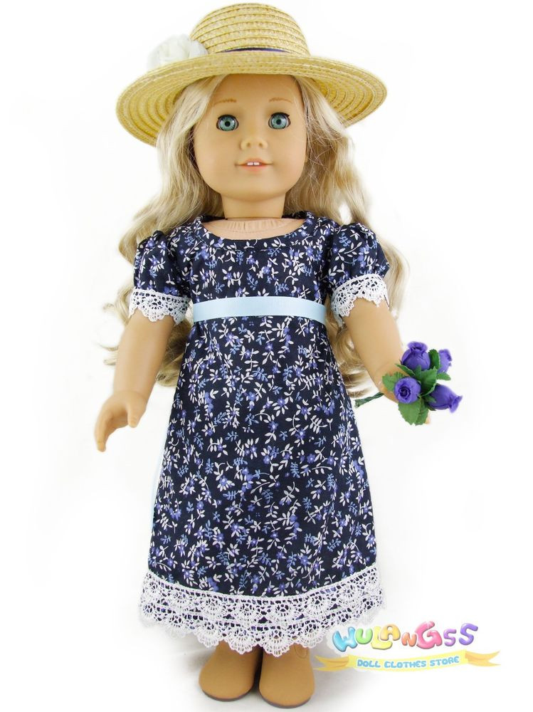 Unique Doll Clothes Fits 18 American Girl Handmade 1812 Blue American Doll Dresses Of Great 47 Images American Doll Dresses