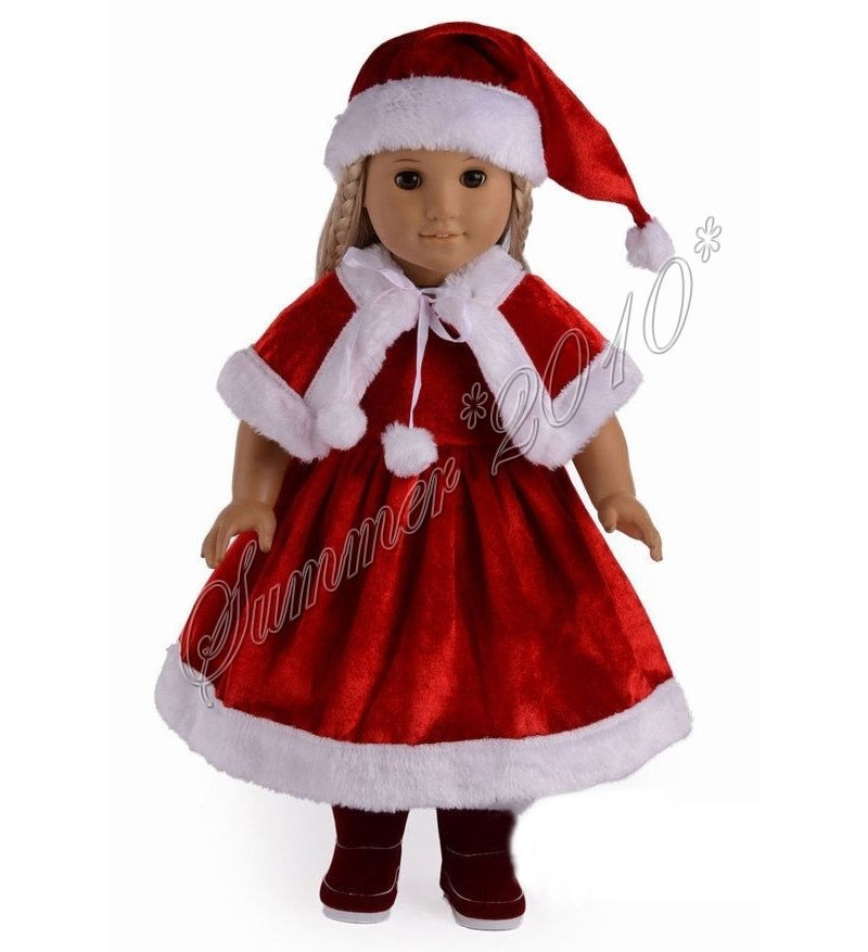 "Unique Doll Clothes Fits 18"" American Girl Dolls 3pcs Santa American Girl Doll Christmas Outfits Of Wonderful 40 Ideas American Girl Doll Christmas Outfits"