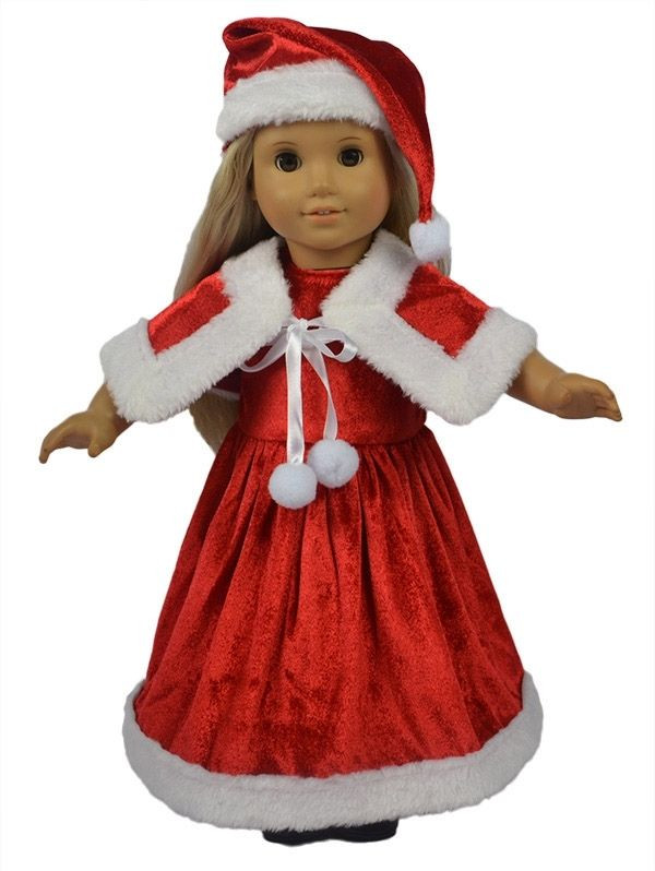 """Unique Doll Clothes Fits 18"""" American Girl Dolls Santa Christmas American Girl Christmas Dress Of Lovely 47 Models American Girl Christmas Dress"""