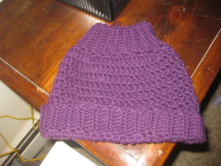 Unique Don T Worry I Grow You — Ponytail Hat Crochet Crochet Hat with Ponytail Hole Of Attractive 47 Pics Crochet Hat with Ponytail Hole