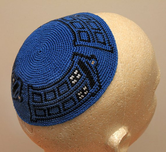 Unique Dr who Tardis Crocheted Kippah Yarmulke Crochet Kippot Of Amazing 42 Ideas Crochet Kippot