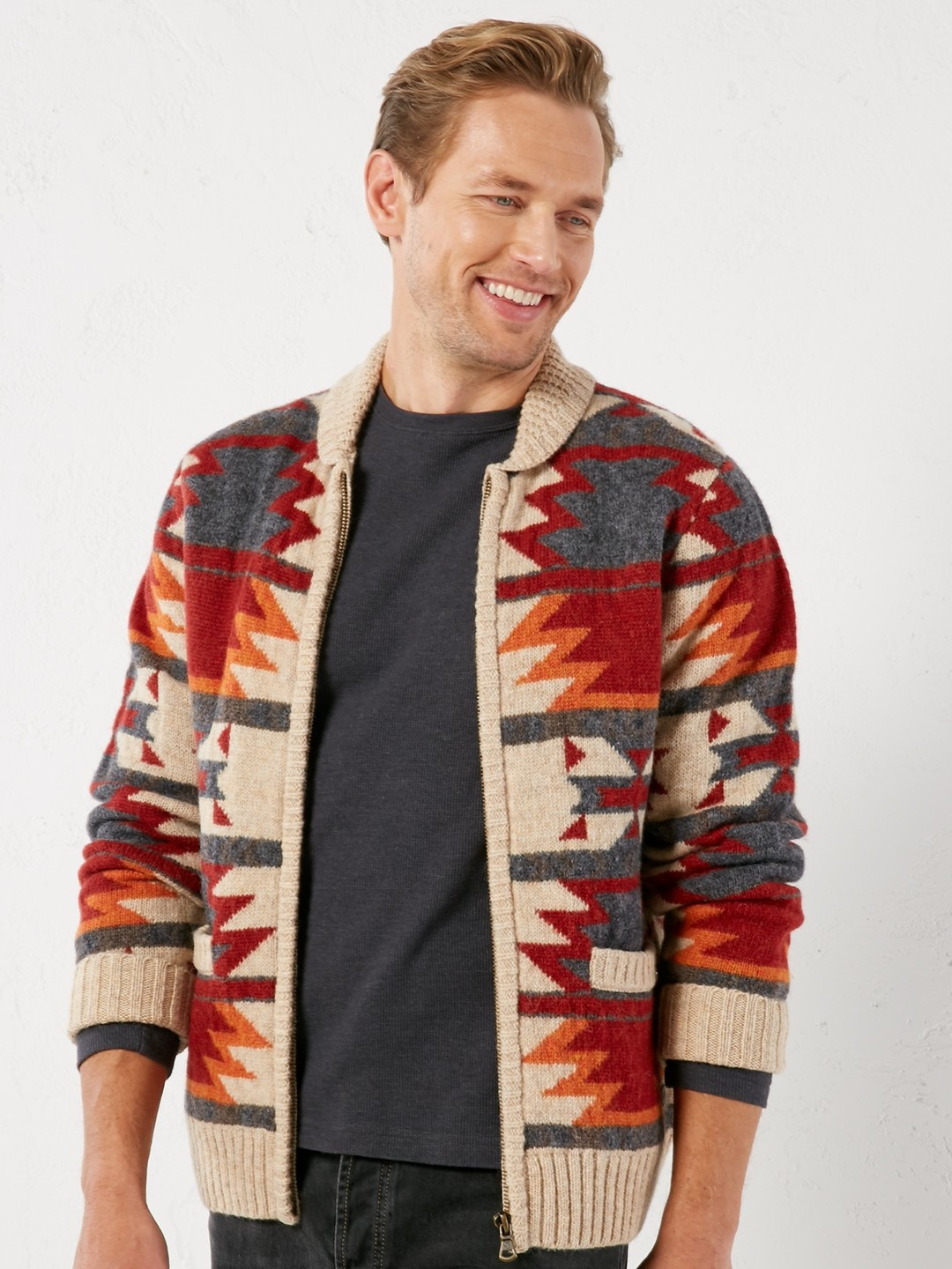 Unique Dutton Zip Pattern Knit Cardigans Mens Patterned Cardigan Of Charming 50 Models Mens Patterned Cardigan