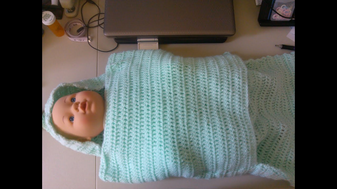 Unique Easy Crochet Baby Swaddler Style Blanket Viyoutube Easy Baby Crochet Patterns Of Gorgeous 49 Photos Easy Baby Crochet Patterns