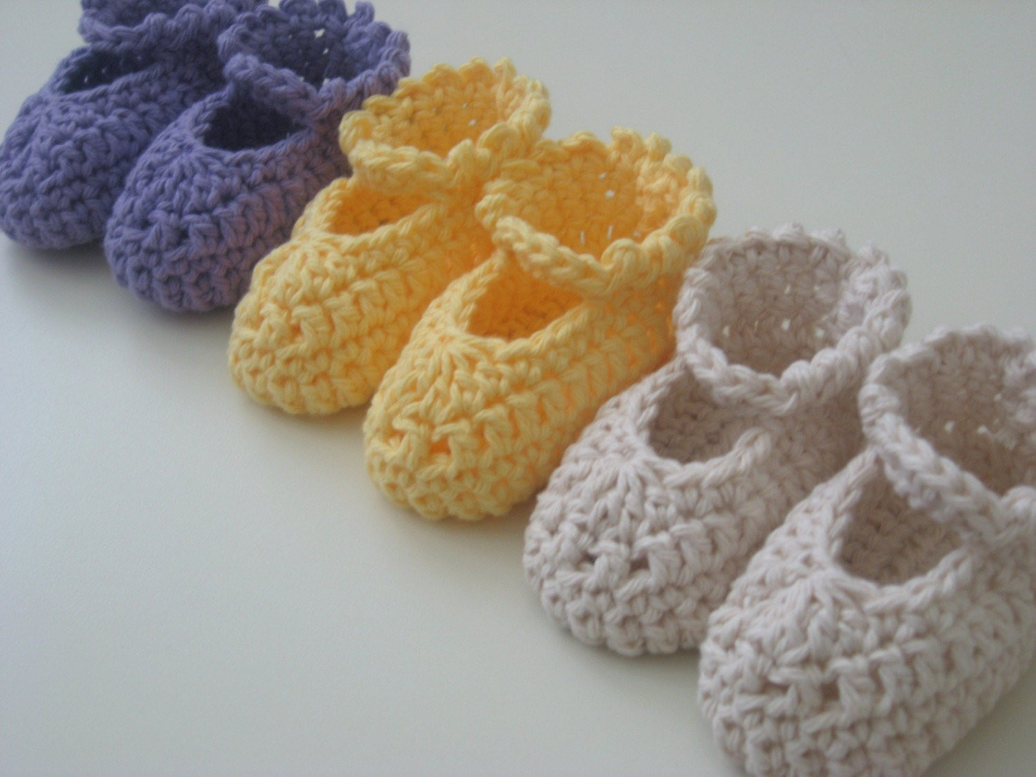 Easy Crochet Pattern MaryJane Baby Booties for by PropShop