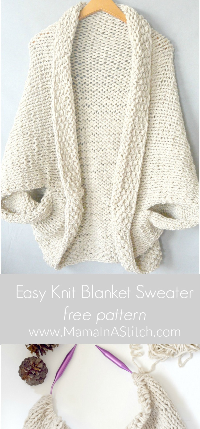 Unique Easy Knit Blanket Sweater Pattern – Mama In A Stitch Shrug Pattern Of Contemporary 48 Images Shrug Pattern