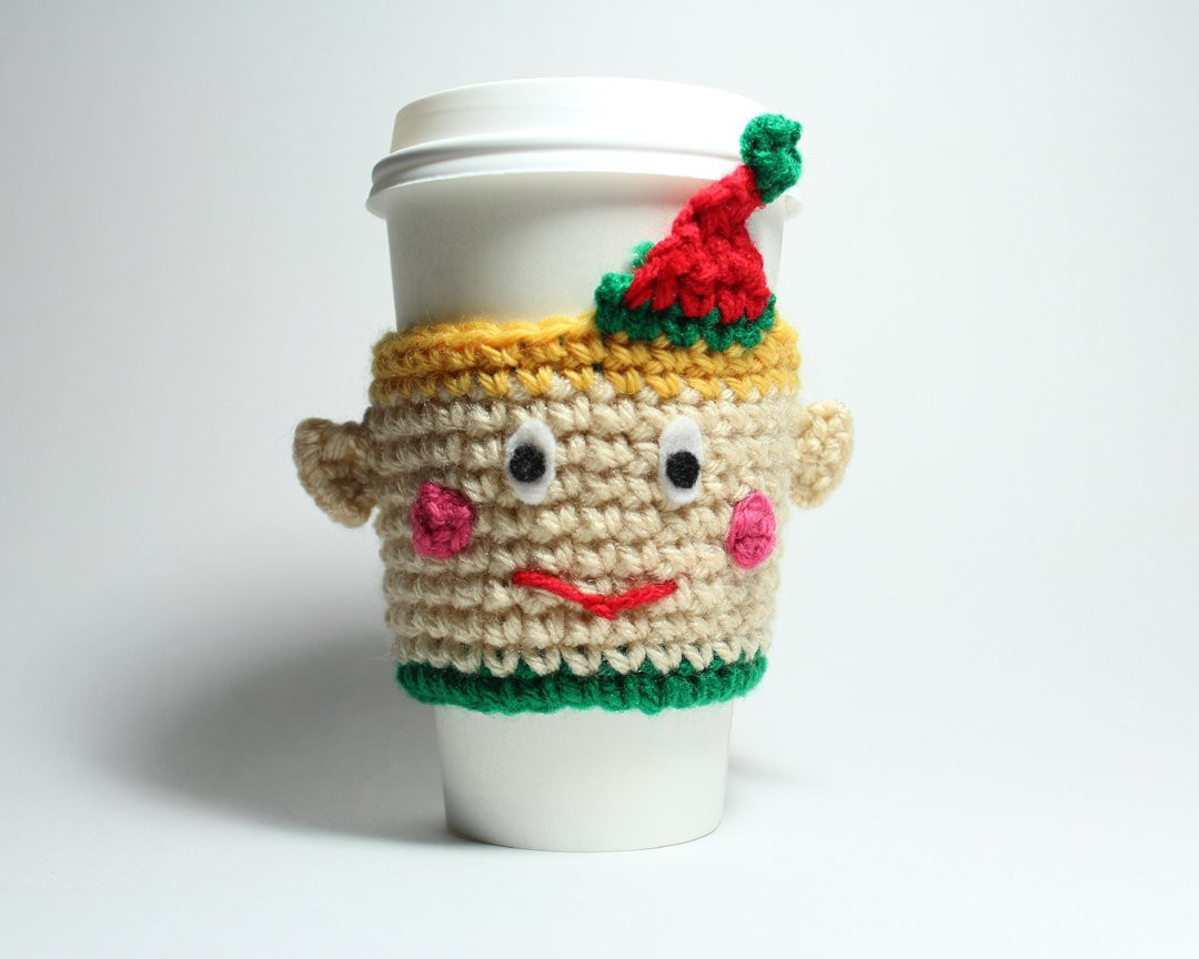 Unique Elf Coffee Cozy Crochet Coffee Sleeve Can Holder Christmas Can Cozy Of Wonderful 48 Pictures Can Cozy