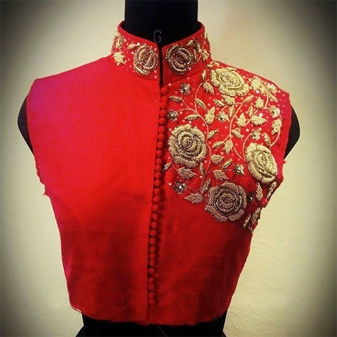 Unique Embroidered Blouse Designs with Zardozi for Every Occasion Wedding Embroidery Designs Of Wonderful 48 Photos Wedding Embroidery Designs