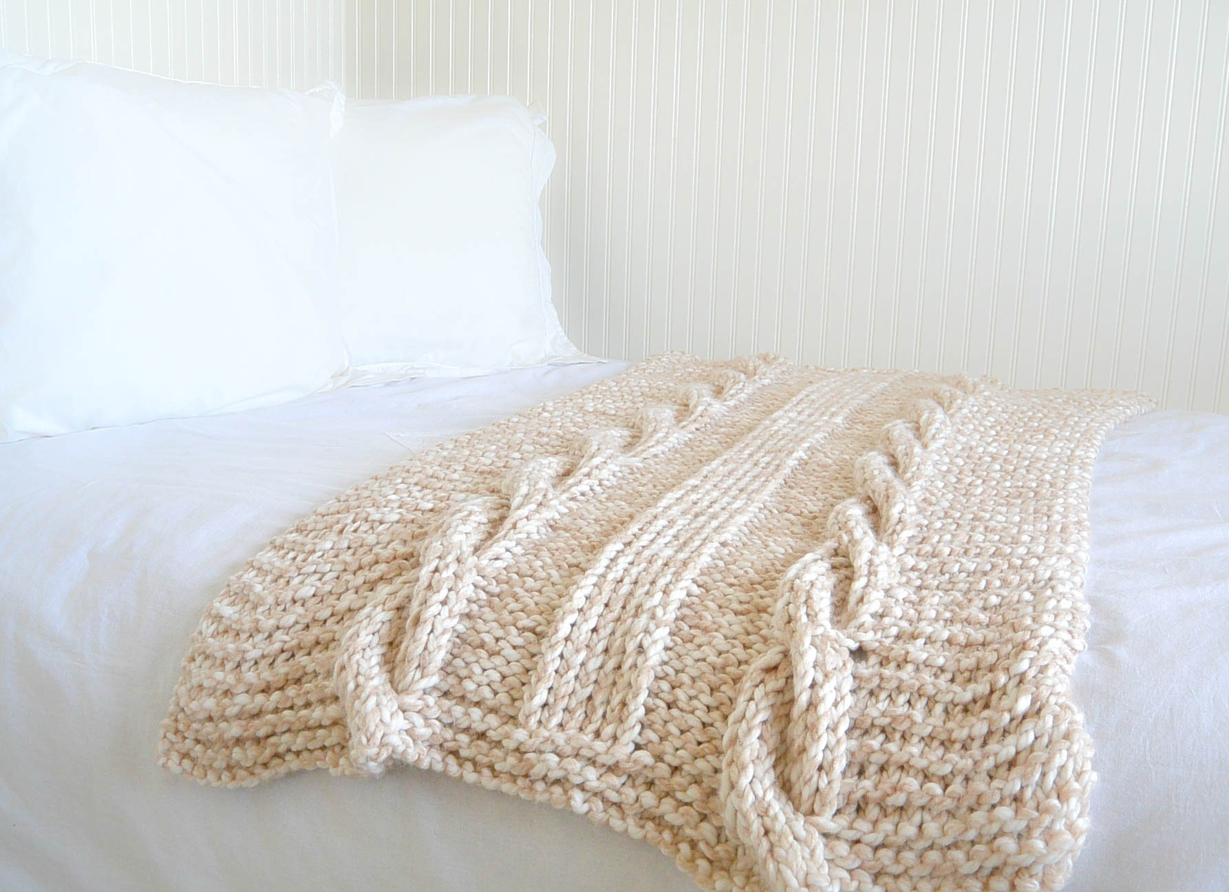 Endless Cables Chunky Knit Throw Pattern – Mama In A Stitch
