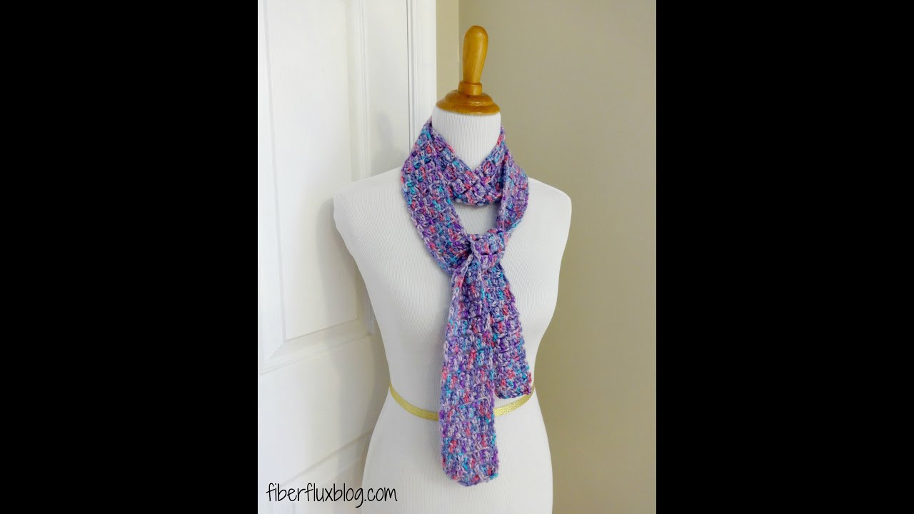 Unique Episode 89 How to Crochet the Sugar Violet Skinny Scarf Crochet Scarf Patterns Youtube Of Contemporary 47 Ideas Crochet Scarf Patterns Youtube