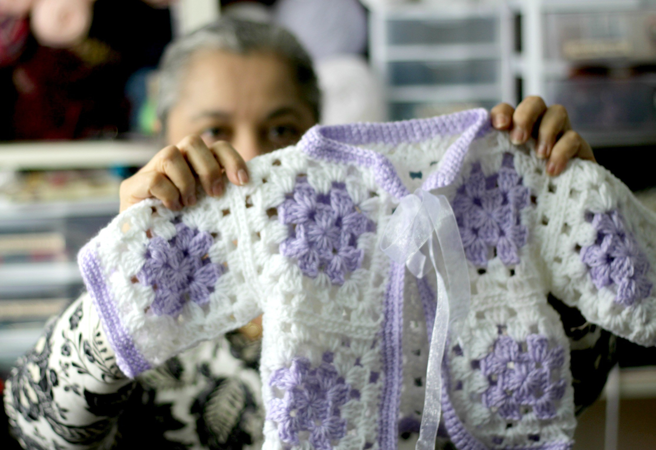 Even beginners can Crochet a Granny Square Baby Sweater