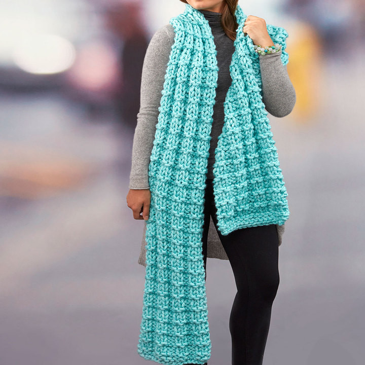 Everlasting Super Scarf free knitting pattern ⋆ Knitting Bee