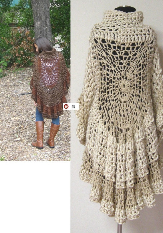 Unique Fashion Crochet Poncho Capelet Brown Free Shipping Free Hippie Crochet Patterns Of New 49 Pictures Free Hippie Crochet Patterns