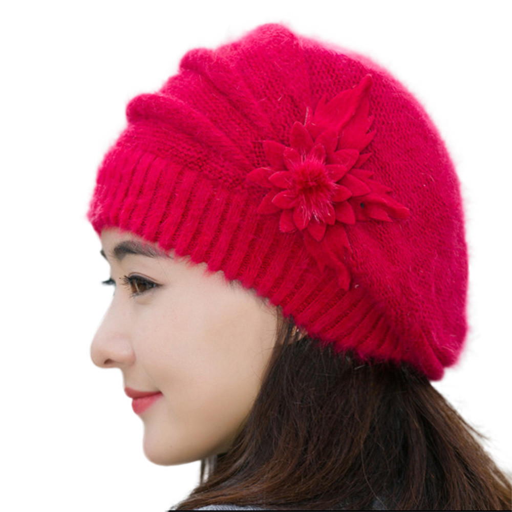 Unique Fashion Womens Flower Knit Crochet Beanie Hat Winter Warm Womens Crochet Beanie Of Perfect 44 Photos Womens Crochet Beanie