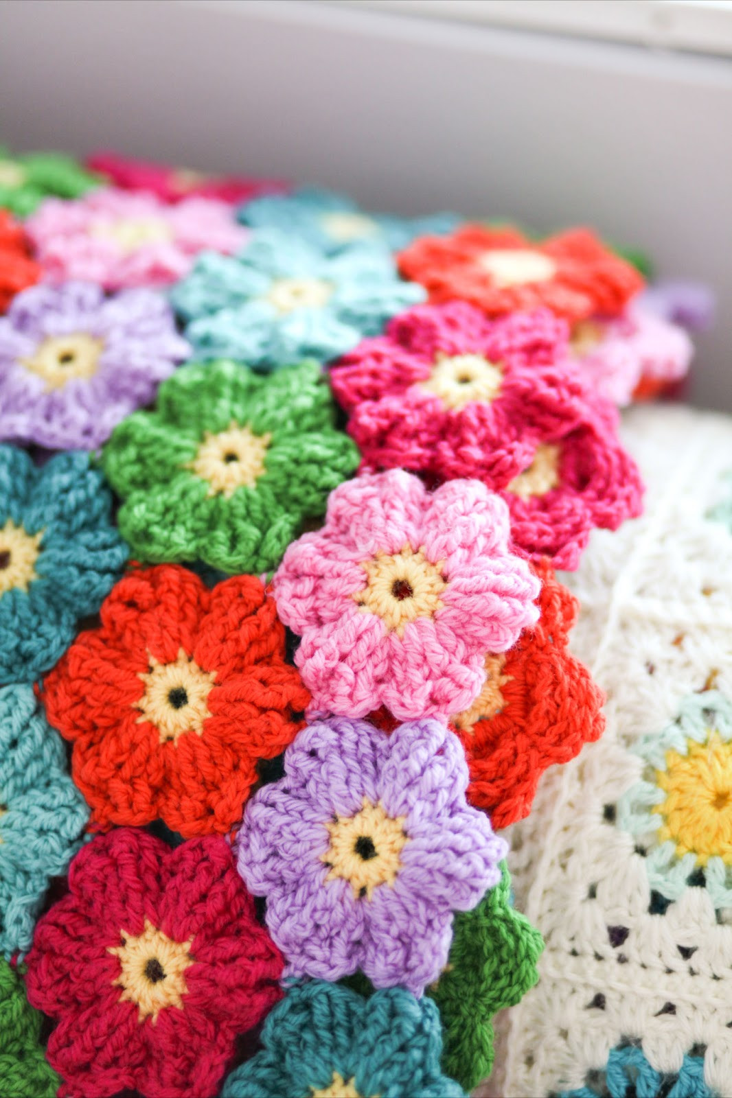 Felted Button Colorful Crochet Patterns Gratitude