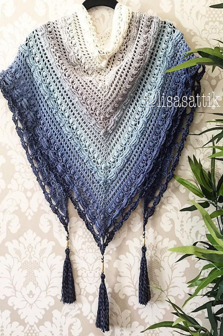 find the best free crochet shawl patterns