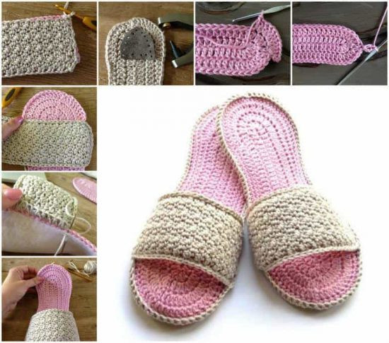 Unique Flip Flop Crochet Slippers Free Pattern Video Tutorial Crochet Slippers with soles Of New 43 Photos Crochet Slippers with soles