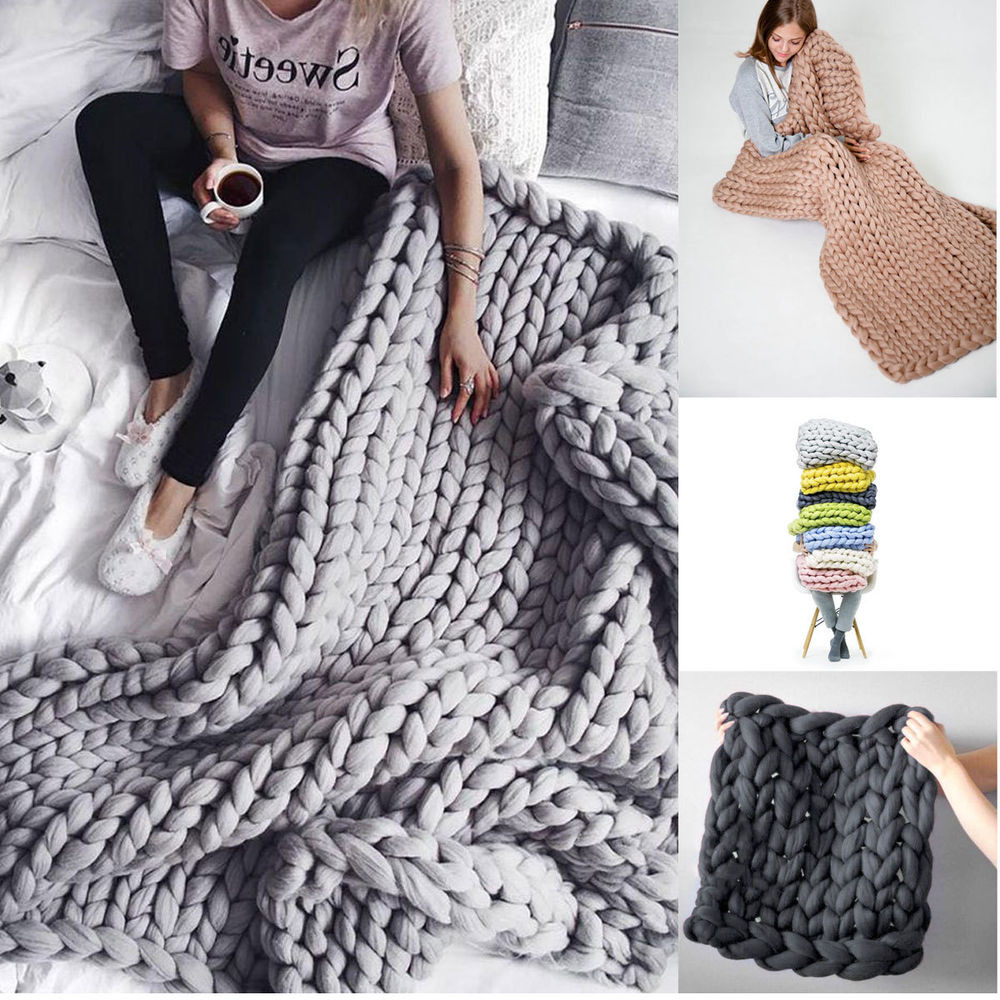 Unique Fluffy Chunky Knitted Thick Crochet Blanket Hand Yarn Fat Yarn Blanket Of Adorable 40 Pics Fat Yarn Blanket
