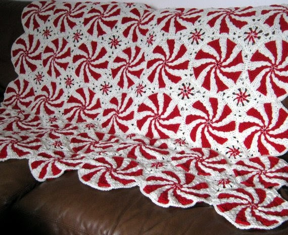 Unique for the Love Of Crochet Along Pinwheel Peppermint Swirl Peppermint Throw Of Great 46 Ideas Peppermint Throw