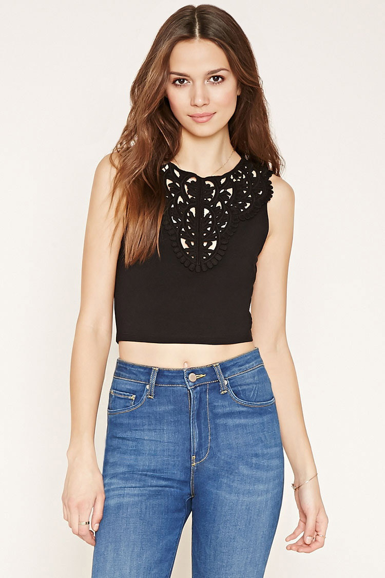 Unique forever 21 Crochet Front top In Black Crochet tops forever 21 Of Amazing 46 Pics Crochet tops forever 21
