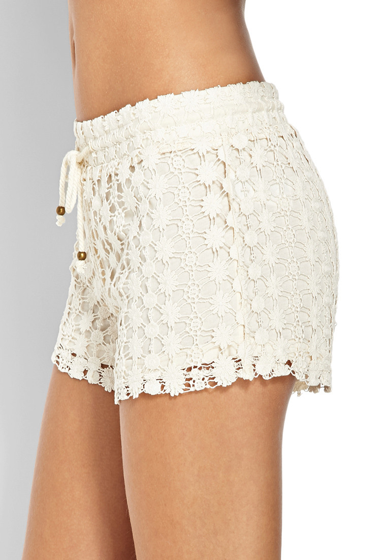 Unique forever 21 Free Spirit Crochet Shorts In White White Crochet Shorts Of Amazing 40 Photos White Crochet Shorts