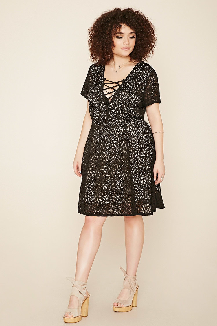 Unique forever 21 Plus Size Crochet Lace Up Dress In Multicolor Plus Size Crochet Dress Of Attractive 46 Ideas Plus Size Crochet Dress