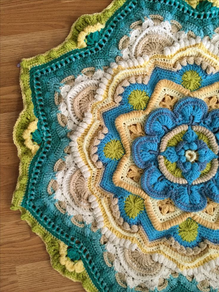 Unique Free Crochet Mandala Blanket Pattern Dancox for Mandala Crochet Patterns Of Beautiful 48 Pictures Mandala Crochet Patterns