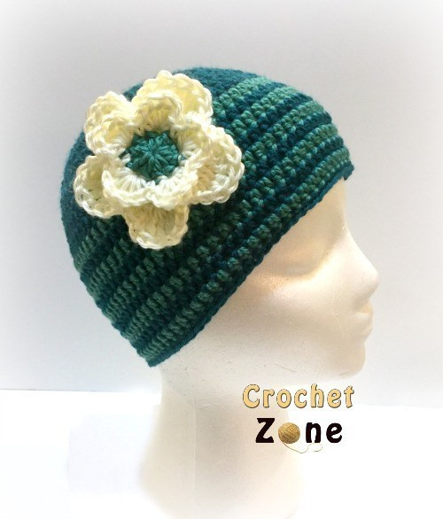 Free Crochet Pattern for Basic Beanie Crochet Zone
