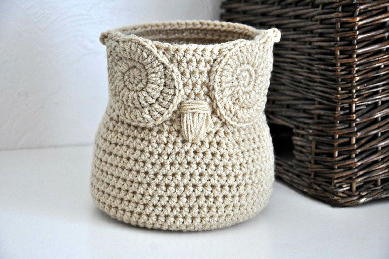 Unique Free Crochet Pattern Owl Basket Dancox for Crochet Owl Basket Of Brilliant 47 Photos Crochet Owl Basket
