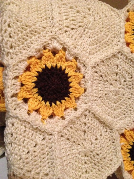 Unique Free Crochet Pattern Sunflower Afghan Dancox for Sunflower Crochet Blanket Of Contemporary 48 Ideas Sunflower Crochet Blanket