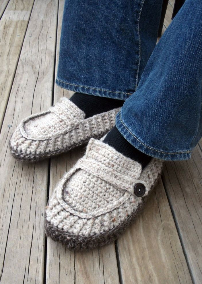 Unique Free Crochet Patterns for Men S Slippers Crochet and Knit Mens Knitted Slippers Of Incredible 44 Pictures Mens Knitted Slippers