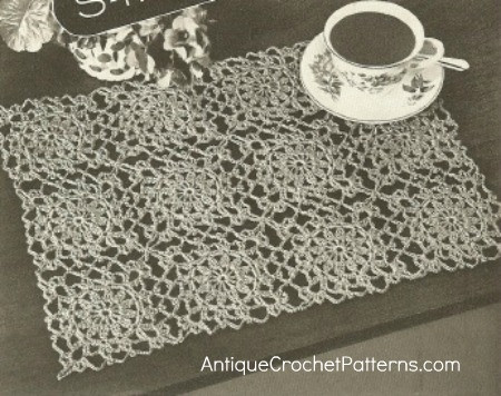 Free Crochet Rectangle Placemat Patterns Dancox for