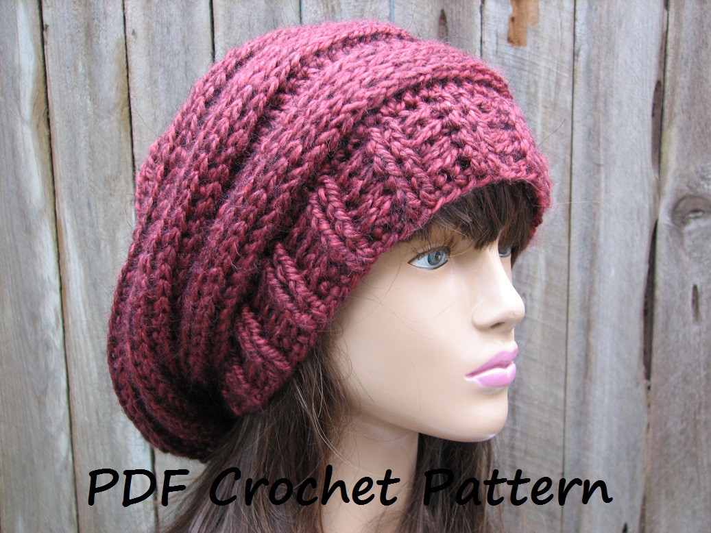 Unique Free Easy Crochet Hat Patterns for Beginners Free Crochet Slouchy Hat Patterns Of Amazing 50 Pictures Free Crochet Slouchy Hat Patterns