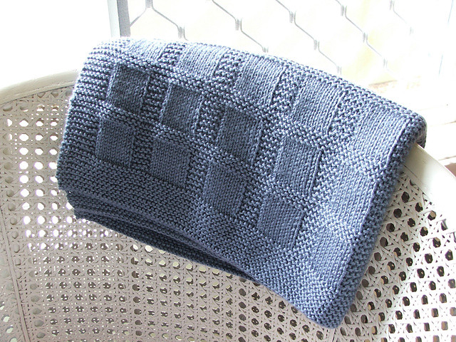 free easy knitting patterns for baby blankets for