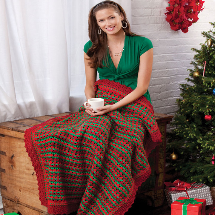 Unique Free Holiday Striped Throw Crochet Pattern From Redheart Red Heart Free Crochet Afghan Patterns Of Great 49 Ideas Red Heart Free Crochet Afghan Patterns