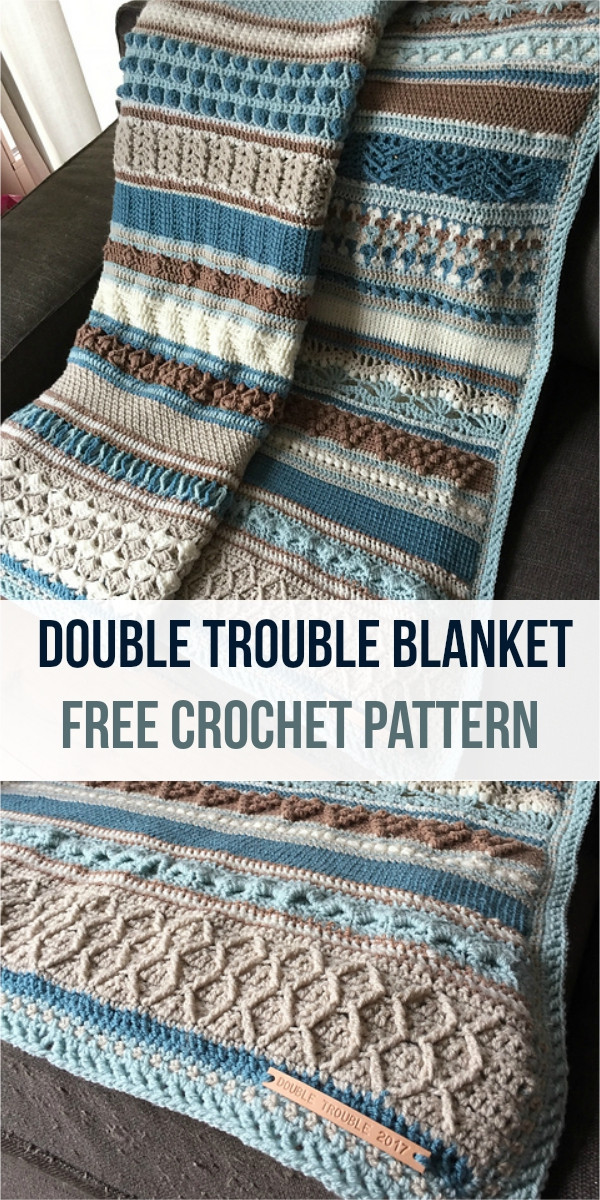 Unique [free Pattern] Double Trouble Crochet Blanket Double Stitch Crochet Blanket Of Awesome 49 Models Double Stitch Crochet Blanket