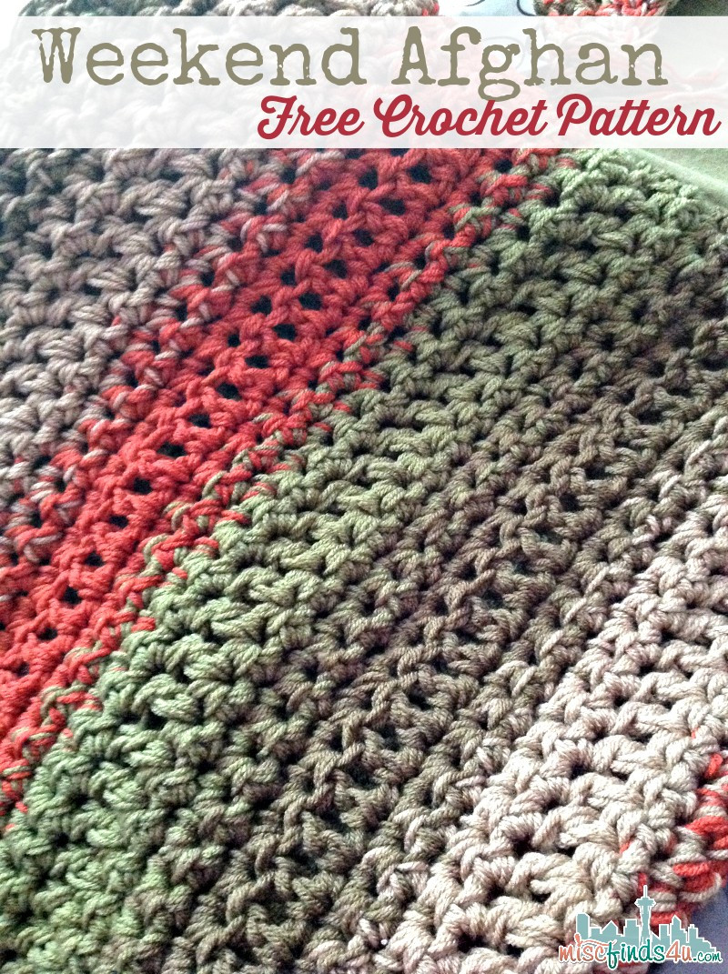 Unique [free Pattern] Fast and Easy Weekend Afghan Knit and Simple Crochet Blanket Patterns Of Awesome 40 Pictures Simple Crochet Blanket Patterns