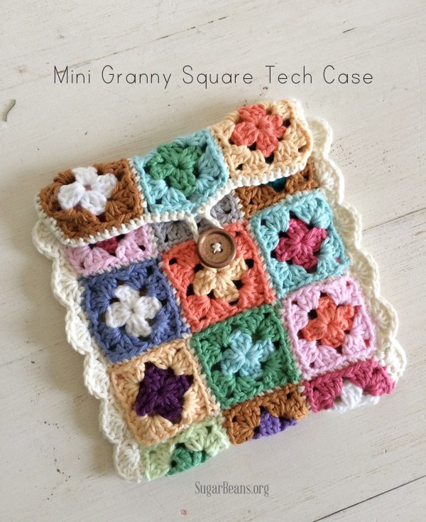 Free Pattern – Granny Square Ipad Case – Crochet