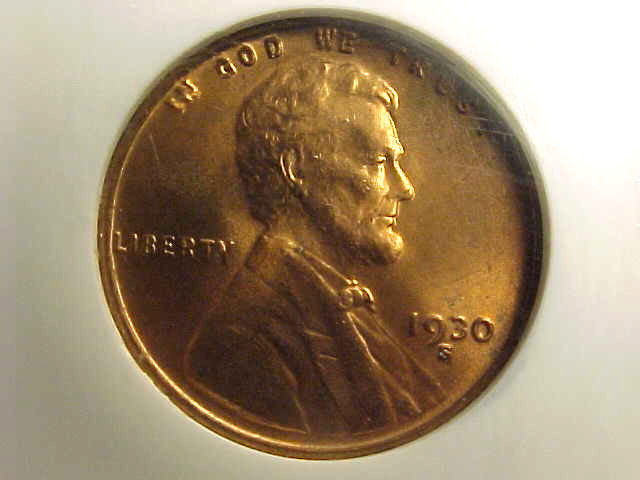FREE SHIPPING 1930 S Lincoln Head Penny Cent BU MS 65 RED